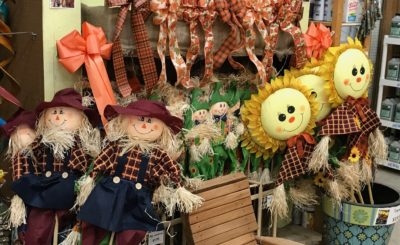 Fall decorations at Milbergers